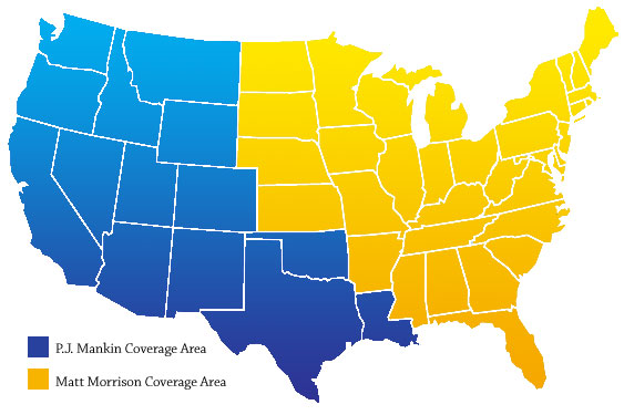 Sales Team Coverage map